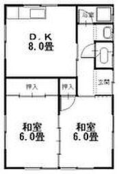 広島県呉市阿賀南1丁目の賃貸アパートの間取り