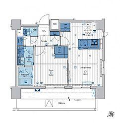 メイクスデザイン東向島[6階]の間取り