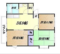 ホワイトハイツA[1階]の間取り