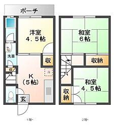 [一戸建] 愛知県名古屋市天白区池場3丁目 の賃貸【/】の間取り