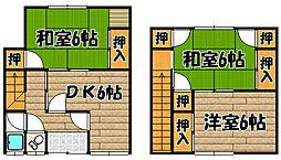 [一戸建] 兵庫県川西市久代2丁目 の賃貸【/】の間取り