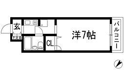 ロイヤル伊丹[1階]の間取り
