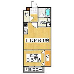 グランツ京都花園[3階]の間取り
