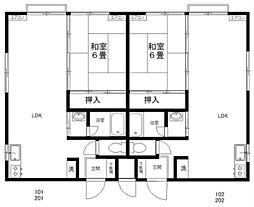 メゾンプラティーク[1階]の間取り