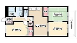 愛知県名古屋市守山区藪田町の賃貸マンションの間取り