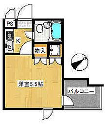 コバヤシハイツ[3階]の間取り