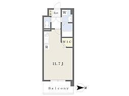 JR鹿児島本線 崇城大学前駅 徒歩4分の賃貸マンション 4階ワンルームの間取り