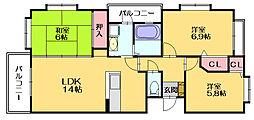 プロスパー20[4階]の間取り