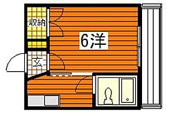 東雲ハイツ[4階]の間取り