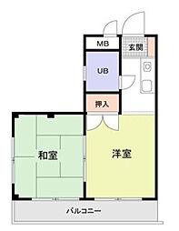 メイプルハウス町田[0201号室]の間取り