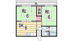 大政ビル1号館[403号室]の間取り