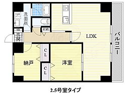 JR阪和線 和泉府中駅 徒歩5分の賃貸マンション 10階1SLDKの間取り