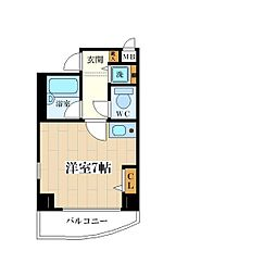 パラシオ塚本II[2階]の間取り