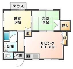 [テラスハウス] 静岡県三島市初音台 の賃貸【/】の間取り