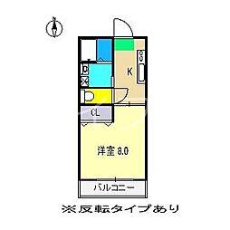 ホープ・ロイヤルハイツ[3階]の間取り