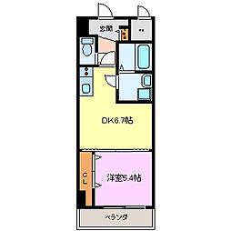 ソシアル・ヴィレッジ[6階]の間取り