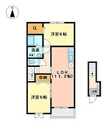 メゾンドマアム[2階]の間取り