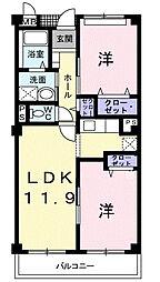 プルミエ・ラムール[4階]の間取り