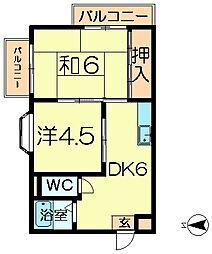 シティパレス学園前P-1[3階]の間取り