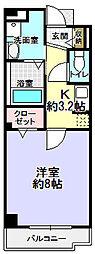 クレール エイメイ[3階]の間取り