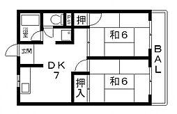 シティーハイム田中[203号室号室]の間取り