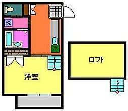 小川コーポ2[202号室]の間取り