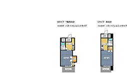 グレイスフル第3東三国 7階1Kの間取り