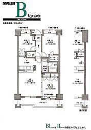 トルナーレ都筑[4階]の間取り