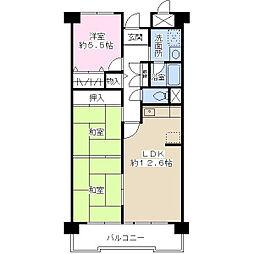 ドミール有住[1階]の間取り