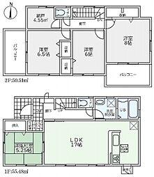 リーブルG東坊城町3-1号棟 2380円 新築分譲全3区画