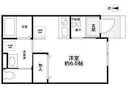 北新宿2−5−33[102号室]の間取り