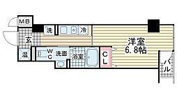 クレアール神戸[303号室]の間取り