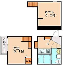 ヒロユーフクオカI[1階]の間取り