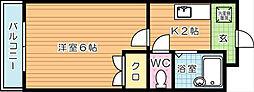 ランセル浅川[3階]の間取り