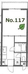 東京都目黒区東が丘1丁目の賃貸マンションの間取り