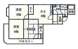荒井第二ビル[502号室]の間取り
