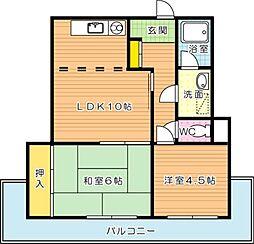 メゾン佐藤[4階]の間取り