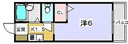 ソラーレ中宮[102号室]の間取り