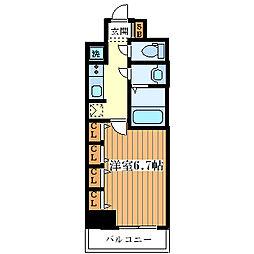 サムティ大阪WESTグランジール[509号室]の間取り