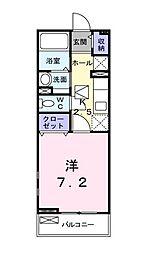 東京都清瀬市元町1丁目の賃貸アパートの間取り