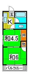 北浦和レジデンス[2階]の間取り