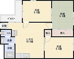 アネックス B棟[4階]の間取り