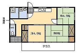 [一戸建] 宮崎県宮崎市大坪町 の賃貸【/】の間取り