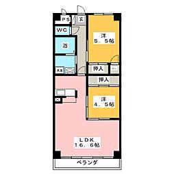 COM's二ツ坂[4階]の間取り