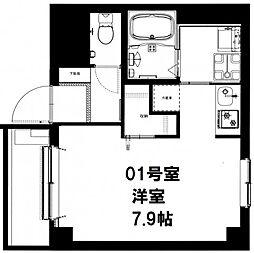 CASADIA Fujisaki[401号室]の間取り