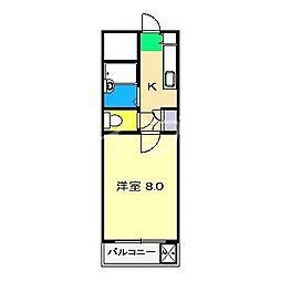 ヴェルデ・N[4階]の間取り