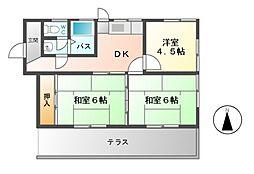 [一戸建] 三重県桑名市新屋敷 の賃貸【/】の間取り