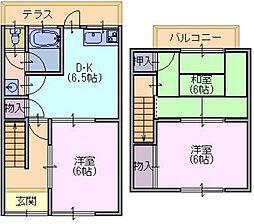[テラスハウス] 奈良県奈良市押熊町 の賃貸【/】の間取り