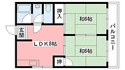 サニーハイツ甲子園[103号室]の間取り