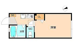 神奈川県横浜市港南区港南3丁目の賃貸アパートの間取り